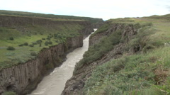 Gullfoss Waterfall in Iceland Stock Footage