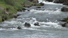 Mountain stream at Thingvellir, Iceland - stock footage
