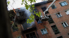 Extinguish Fire - stock footage
