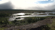 Stock Video Footage of View from Thingvellir, the Viking Parliament in Iceland