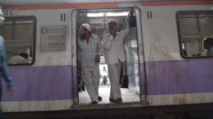 Mumbai train P6 Stock Footage