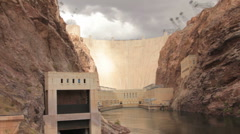 HOOVER DAM FROM BELOW Stock Footage