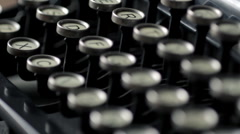 Typewriter rack focus Stock Footage
