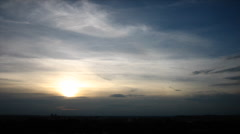 Blue clouds sunset timelapse Stock Footage
