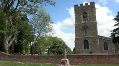 Historic Church in England Stock Footage