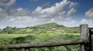 Stock Video Footage of Glastonbury Tor Timelapse