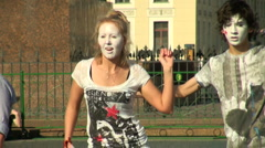 Artists mimes Stock Footage
