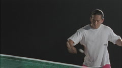 People play ping pong. - stock footage