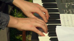 Key electric piano Stock Footage