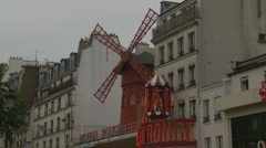 Moulin Rouge in Paris Stock Footage