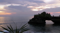 Temple Tanah Lot in Bali Stock Footage