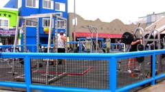 Muscle Beach Fitness Center- Venice Beach CA Stock Footage