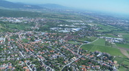 Aerial view of village Stock Footage