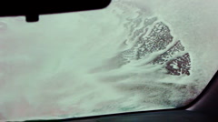 Car wash point of view video Stock Footage