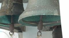 Bells on church bellfry - stock footage