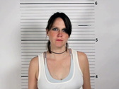 Stock Video Footage of Female Criminal Mugshot
