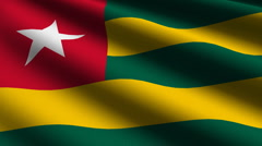 Togo flag close up Stock Footage