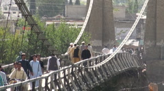 Bridge in Gilgit - Northern Pakistan Stock Footage