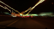 Hyperspeed night drive. Stock Footage