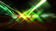 Hyper night drive. Disco effect. Wide. Stock Footage