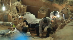 Terracotta Army - excavation - 3 Stock Footage
