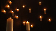 Stock Video Footage of Candles go out