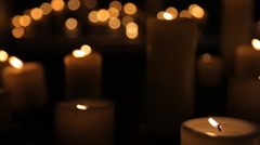 Candles go out - stock footage
