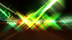 Hyper night drive. Disco effect. Stock Footage