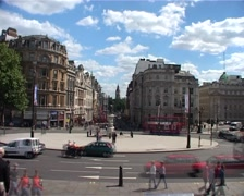 Trafalgar Square Timelapse w Big Ben, London England GFTSD Stock Footage