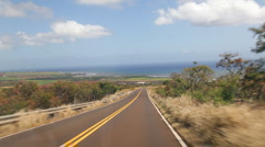 Driving Waimea Canyon Road, Kauai, Hawaii Stock Footage