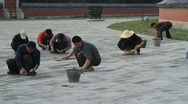 Stock Video Footage of Workers repairing the grounds of the Temple of Heaven, Beijing, China - 3