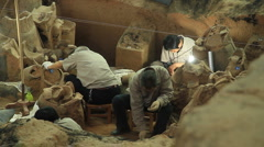 Terracotta Army - excavation - 5 Stock Footage