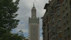 Paris Mosque Stock Footage