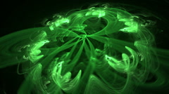 green rotated seamless looping bg d6180 L - stock footage