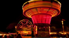 Fun fair time lapse 18 chair ride time remap Stock Footage