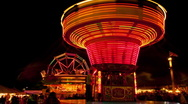 Stock Video Footage of Fun fair time lapse 18 chair ride time remap