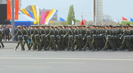 Military parade (War parade). Victory day Stock Footage