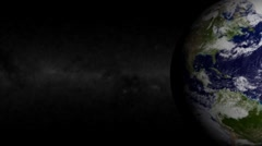 Blue Marble Earth Right and Galaxy Loop Stock Footage