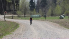 Amateur cycling races Stock Footage
