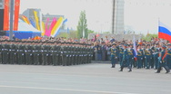 Stock Video Footage of Military parade (War parade). Victory day