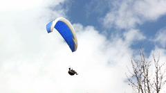 Extreme paragliding fly Stock Footage
