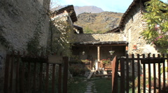 Italy Piedmont village house Stock Footage