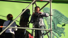 The operator of the camera Stock Footage