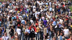 Crowd of people - stock footage