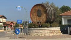 Italy Piedmont Gattinara wine barrel - stock footage