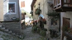 Italy Piedmont alpine village  Stock Footage