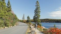 Ocean Drive and Ocean Path, Acadia Stock Footage