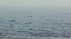 Misty sea on the morning Stock Footage