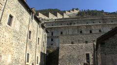 Italy Forte di Fenestrelle walls in Piedmont  Stock Footage