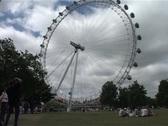 Gloomy Day at London Eye, London England GFSD Stock Footage